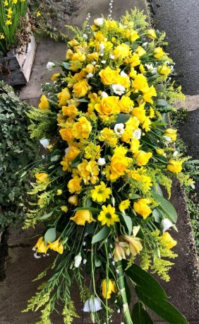 Yellow Double ended Coffin Spray