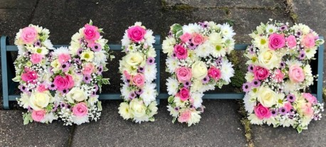 4 Letter Funeral Spray