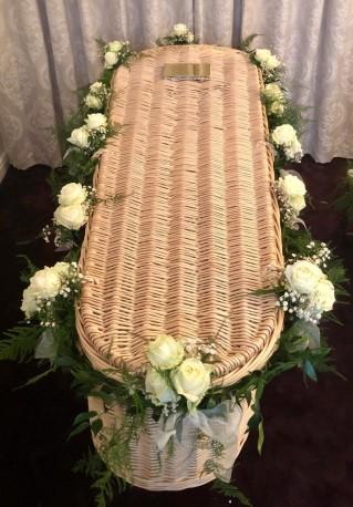Rose Coffin Garland