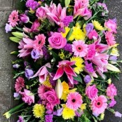 Pink and Yellow Coffin Spray
